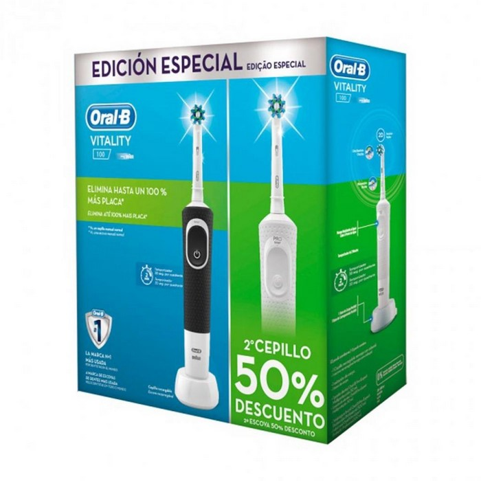 CEPILLO DENTAL BRAUN VITALITY DUO BLANCO + NEGRO