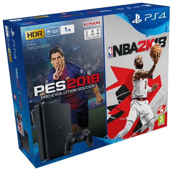 PLAYSTATION 4 SLIM 1 TB+ PES2018 + NBA 2K18 SONY