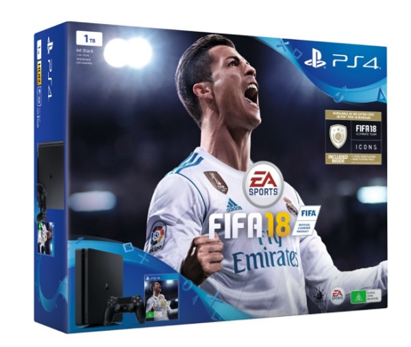 PLAYSTATION 4 SLIM 1TB + JUEGO FIFA18 (SONY)